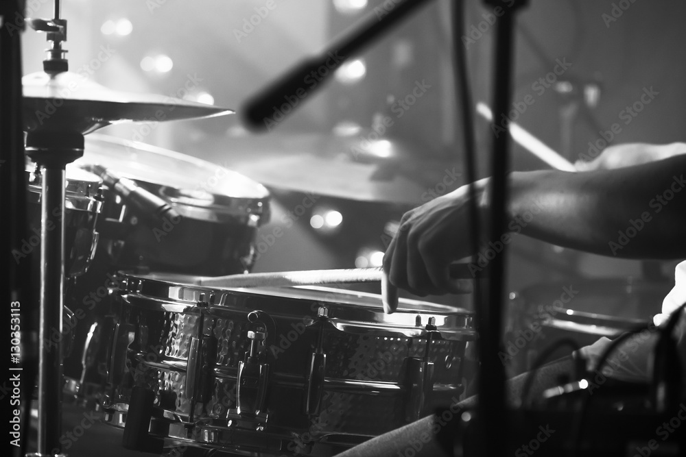 Fototapeta Black and white live music background