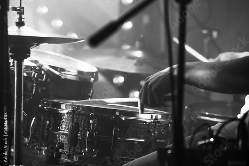 Photo Black and white live music background