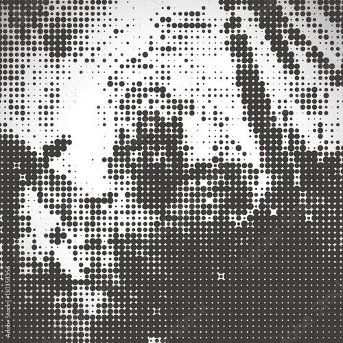 Fotografie, Obraz  abstract halftone background