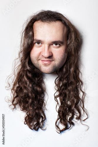 Fotografie, Obraz  Funny men's head.