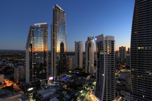 City At Sunrise Surfers Paradi...