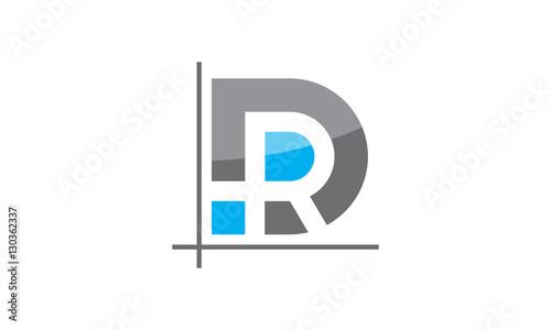 Fotomural Logo Letter DR