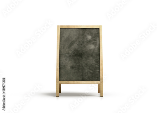 Blank outdoor chalkboard stand mockup, isolated, front view, 3d ...