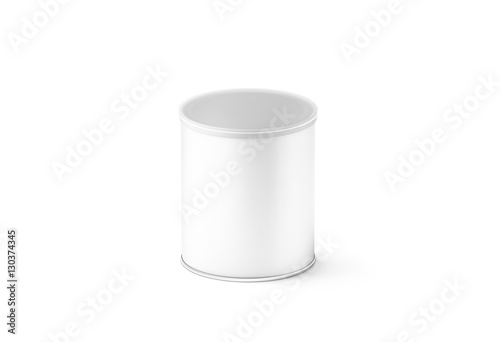 Blank white small carton cylinder box mockup, isolated, 3d rendering ...