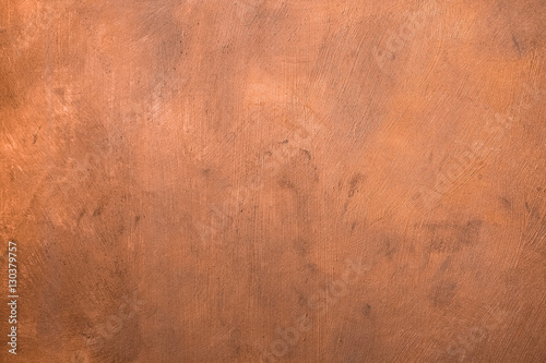 Canvas Print Copper painted surface. Background