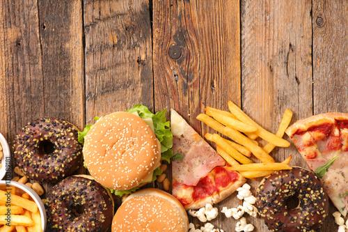 assorted junk food © M.studio