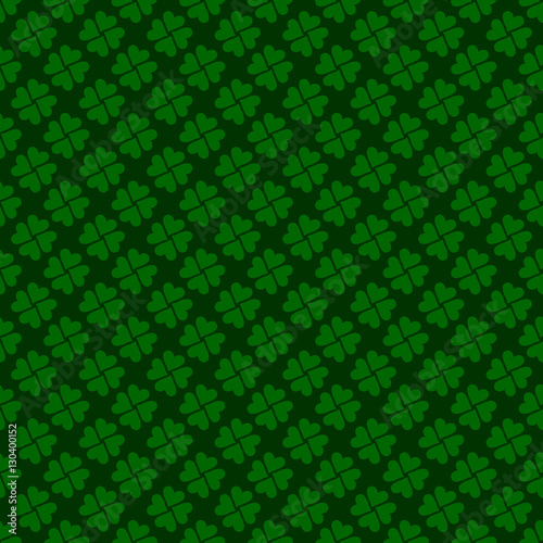 Seamless Four Clover Vector Pattern Wallpaper St Patricks