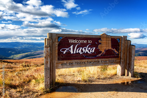 Photo Alaska Welcome Sign