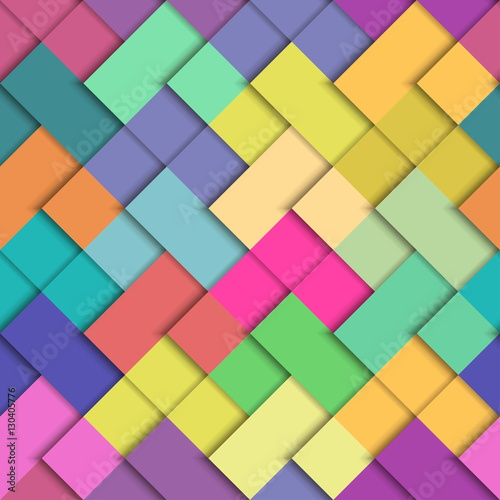 Seamless Vector Colorful Bright Pattern Paper Squares Of Different