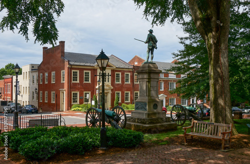 Fotografie, Obraz  Historic Court Square, Charlottesville, Virginia