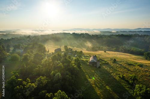 Fotografie, Obraz  Warm sunrise in Albemarle County, Virginia