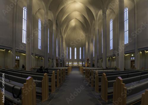 Fotografija  REYKJAVIK, ICELAND - October 19, 2016: Hallgrimskirkja Cathedral