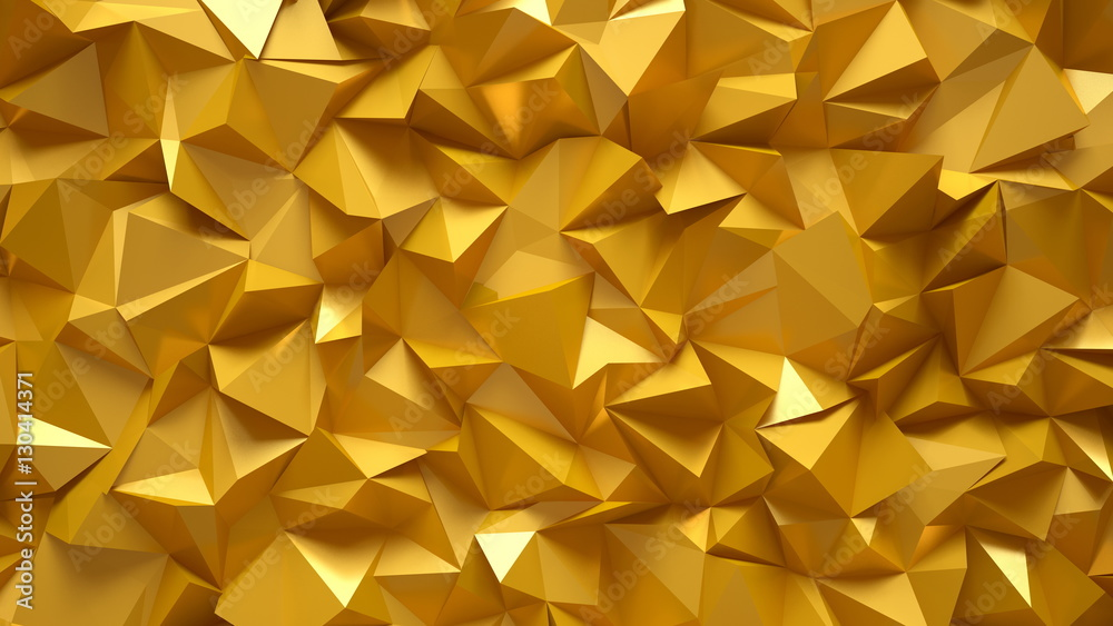 The bright, golden, gorgeous background. 3D illustration, 3D ren