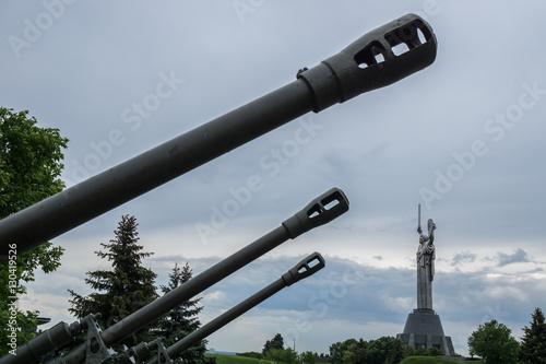 Photo  Divisional gun sample 1942 on the Monument, Kiev, Ukraine
