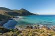 Turquoise sea on coast of Desert des Agriates in Corsica