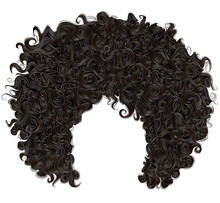 Trendy Curly  African Black  H...