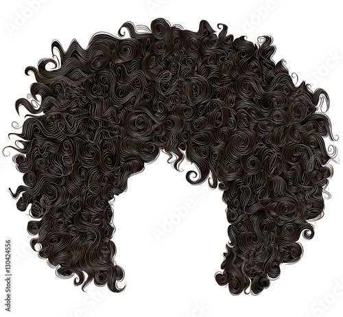 trendy curly  african black  hair Wallpaper Mural