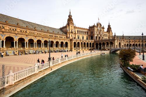 Fototapety, obrazy: Andalusien - Sevilla - Plaza de Espana