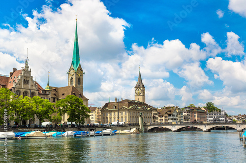 Foto op Plexiglas Kiev Historical part of Zurich