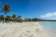 White Sand And Turquoise Water At Sapodilla Beach, Providenciales, Turks And Caicos
