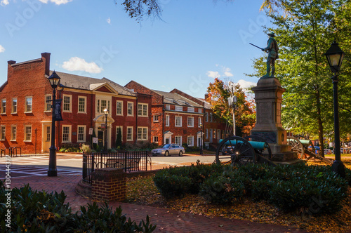 Historic Court Square in Charlottesville, Virginia Canvas-taulu