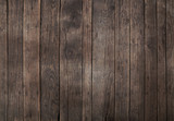 Fototapeta Do przedpokoju - Old vintage dark brown wooden planks background