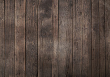 Old Vintage Dark Brown Wooden Planks Background