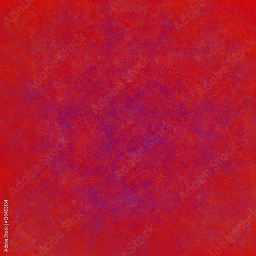 abstract red background or Christmas paper with bright center spotlight and black vignette border frame with vintage grunge - 130453164