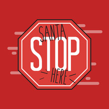 Santa Stop Here Sign Made By A...