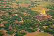 Aerial view of the ancient city of Bagan where more than 2200 ancient temples remain of the original 10000, Bagan (Pagan), Myanmar (Burma), Asia