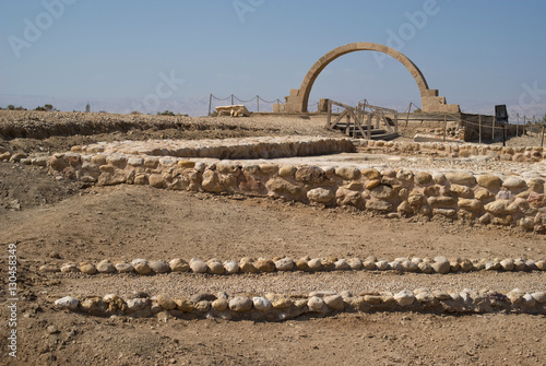 Photo Pope John Paul II Arch church at Bethany beyond the Jordan river, Jordan