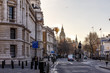 Downing street in the morning winter