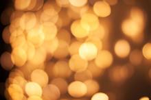 Christmas Lights Golden Bokeh