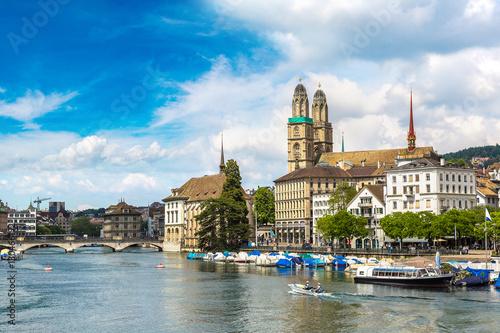 Staande foto Rome Grossmunster church in Zurich