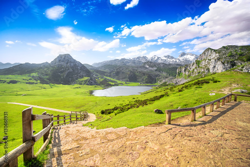 Lake Ercina, one of the famous lakes of Covadonga, Asturias Canvas Print