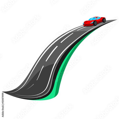 Fotografie, Obraz Droga - samochód - koncepcja