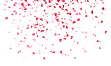 Fototapeta Fototapety na ścianę do pokoju dziecięcego - Hearts background, Valentine Day falling heart pink confetti