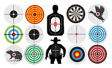 Big Set Of Targets Isolated An...