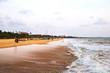 Beach at Negombo, Sri Lanka with evening cloudy sky