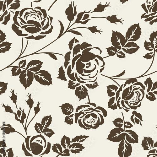 Naklejka dekoracyjna Kwiecisty wzór z różami