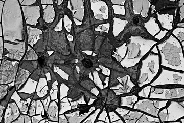 cracks old paint, black and white texture to overlay