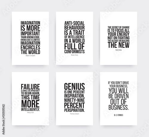 Fotografija  Inspirational motivating quotes set
