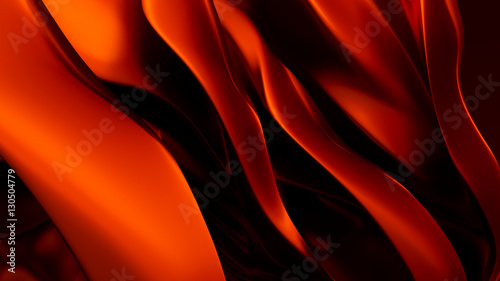 Red 3d background with waving silk #130504779