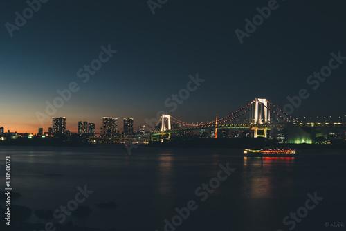 Keuken foto achterwand Noord Europa Tokyo night scape