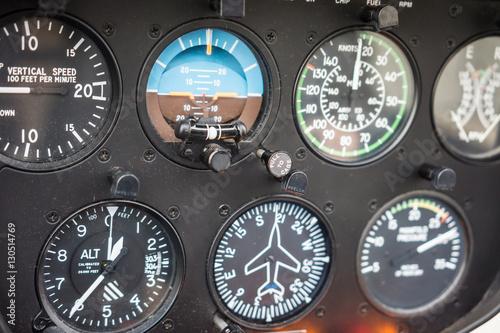 Photo Helicopter Flight Instruments Gauge Panel