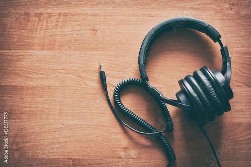 Headphone in vintage style