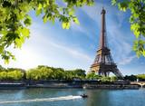 Fototapeta Fototapety z wieżą Eiffla - Seine and Eiffel Tower