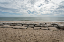 Sandbags Set Up As Defense Aga...