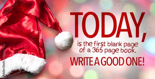 Photo  Today is the first blank page of a 365 page book