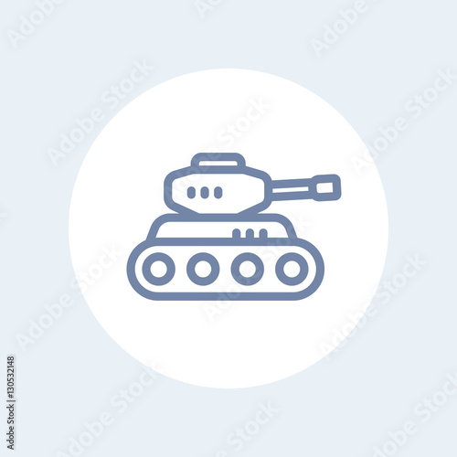 battle tank line icon isolated on white buy this stock vector and explore similar vectors at adobe stock adobe stock adobe stock